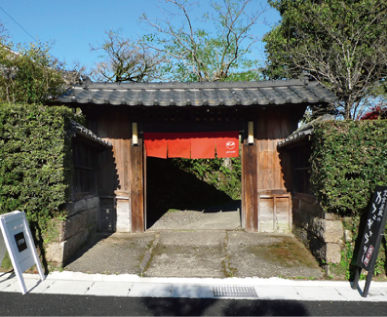 蒲生茶廊zenzai 玄関写真